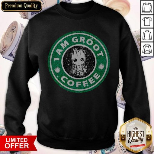 Baby Groot I Am Groot Coffee Sweatshirt