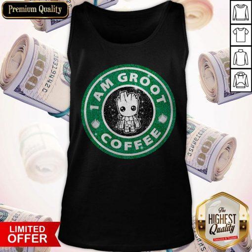 Baby Groot I Am Groot Coffee Tank Top