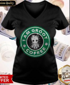 Baby Groot I Am Groot Coffee V-neck