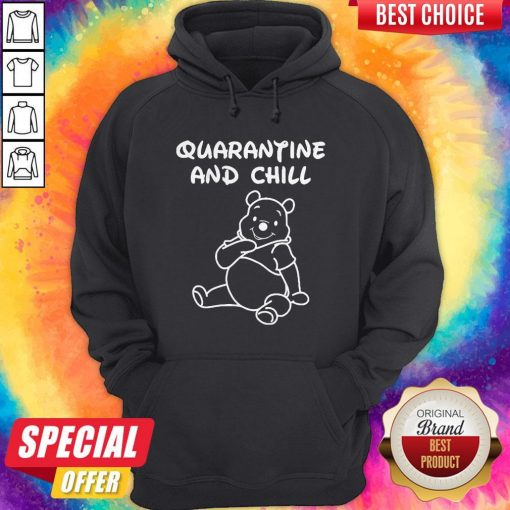 Bee Cartoon Quarantine And Chill Hoodie