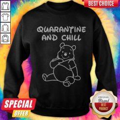 Bee Cartoon Quarantine And Chill Sweatshirt