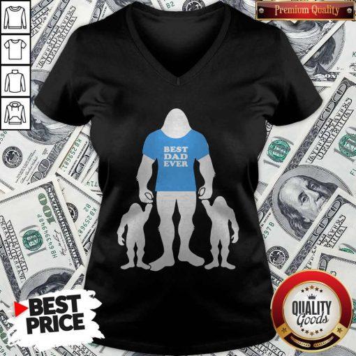 Best Dad Ever Family Man Bigfoot V-neck