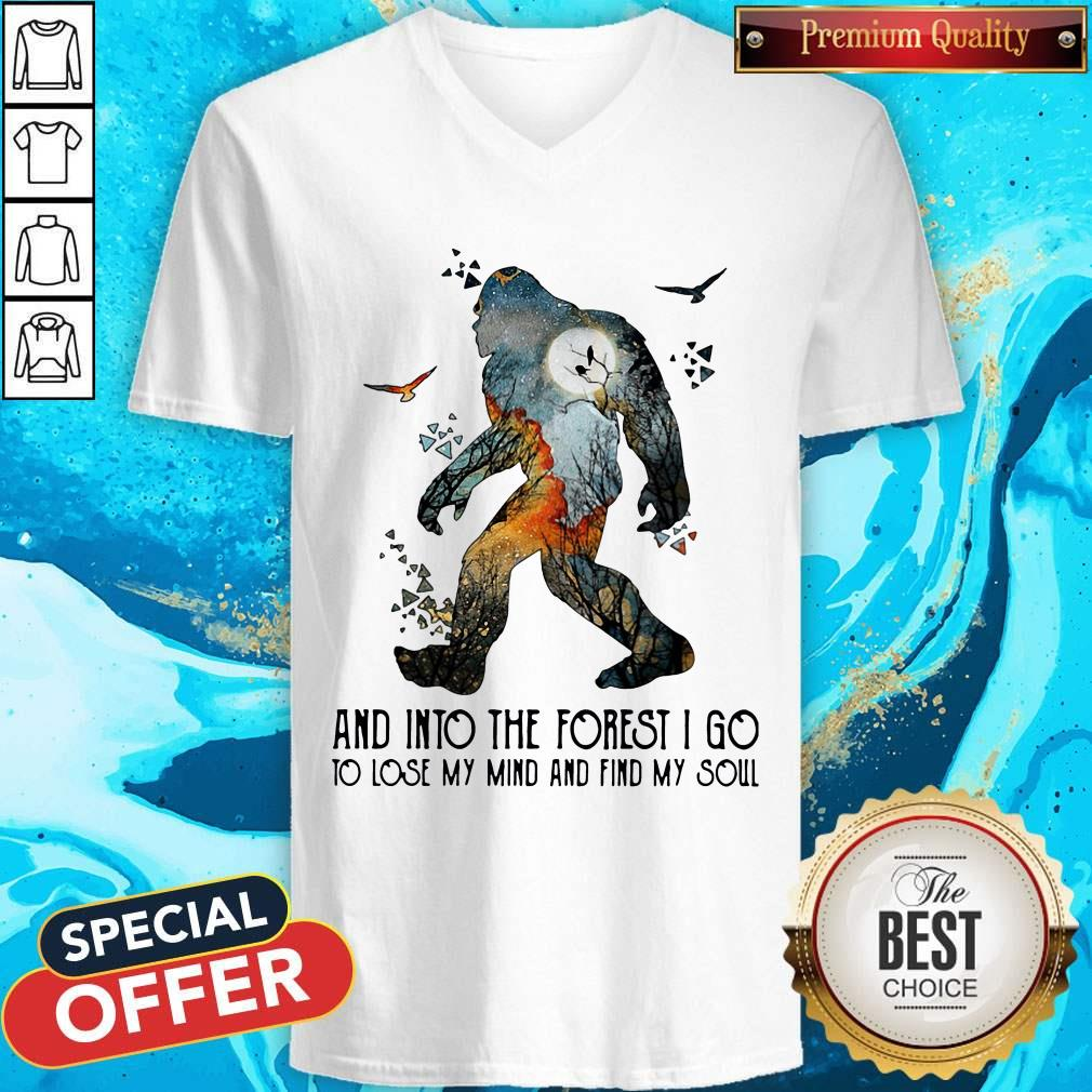 Bigfoot And Into The Forest I Go To Lose My Mind And Find My Soul V-neck