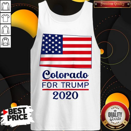 Colorado For Donald Trump 2020 Flag Tank Top