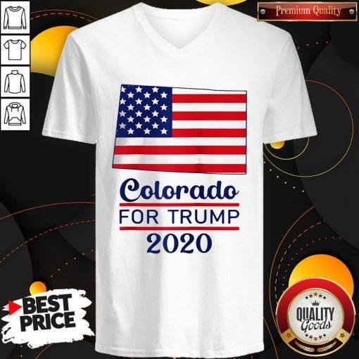 Colorado For Donald Trump 2020 Flag V-neck