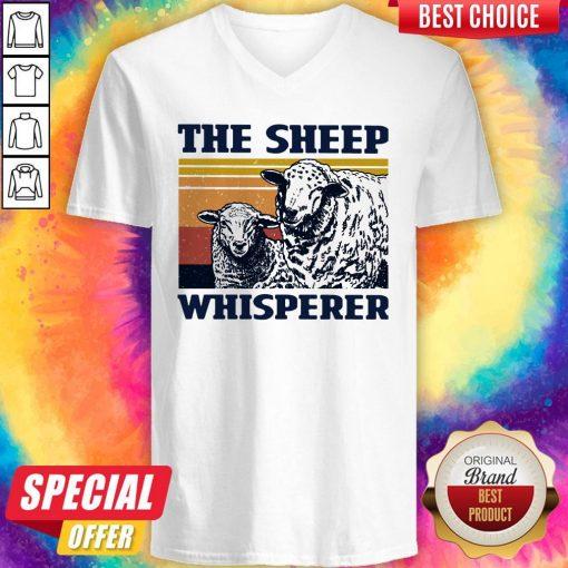Funny The Sheep Whisperer Vintage V-neck