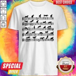 Horse Notes On Sheet Music Shirt