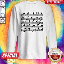 Horse Notes On Sheet Music Sweatshirt