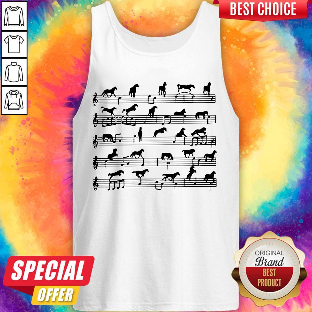 Horse Notes On Sheet Music Tank Top