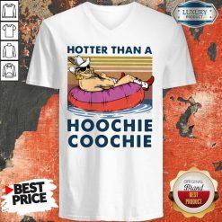 Hotter Than A Hoochie Coochie Vintage V-neck