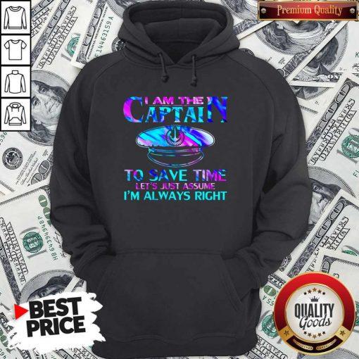 I Am The Captain To Save Time Hoodie