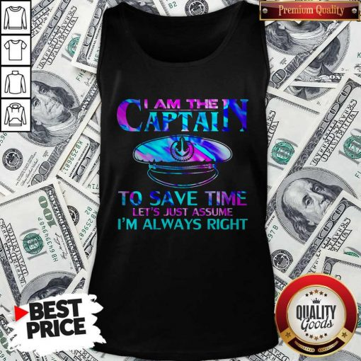 I Am The Captain To Save Time Tank Top