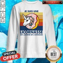 Je Suis Une Licornasse 50% Licorne 50% Connasse Vintage Retro Sweatshirt