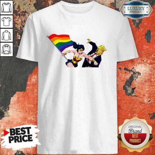 LGBT Wonder Woman Punch Trump Shirt