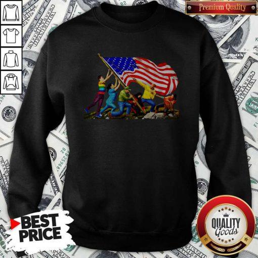 Official America The Melting Pot Sweatshirt