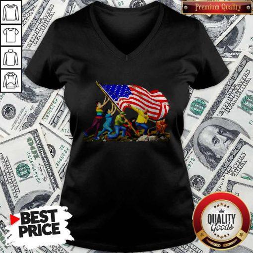 Official America The Melting Pot V-neck