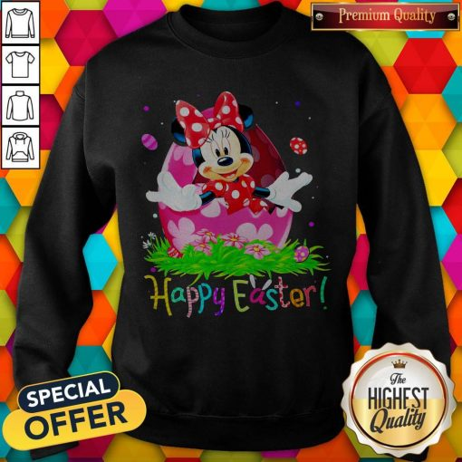 Minnie Mouse Easter Egg Happy Easter Sweatshirt
