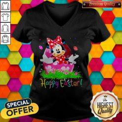 Minnie Mouse Easter Egg Happy Easter V-neck