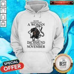 Never Underestimate A Woman Who Loves Dachshund And Was Born In November Hoodie