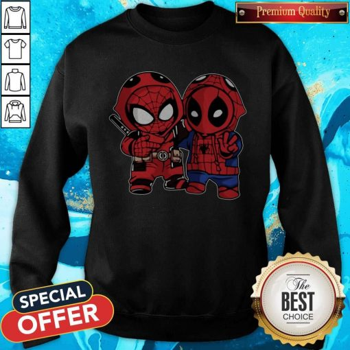 Official Baby Deadpool And Baby Spider Man Sweatshirt