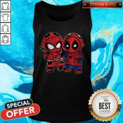 Official Baby Deadpool And Baby Spider Man Tank Top