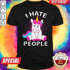 Official Baby Unicorn I hate People Shirt