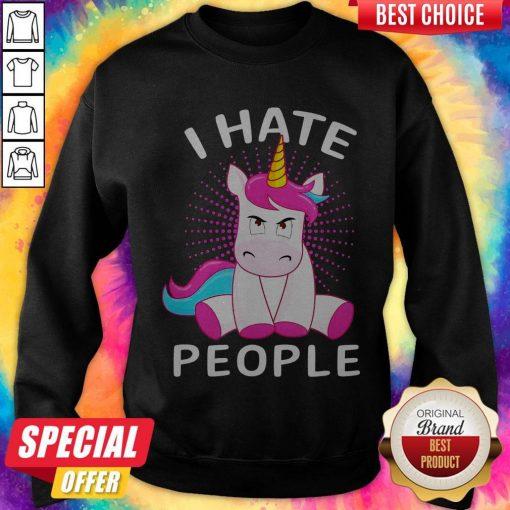 Official Baby Unicorn I hate People Sweatshirt