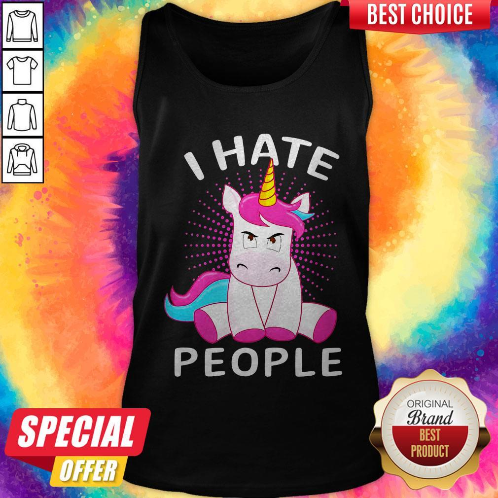 Official Baby Unicorn I hate People Tank Top