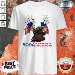 Official Baby Yoda America Shirt