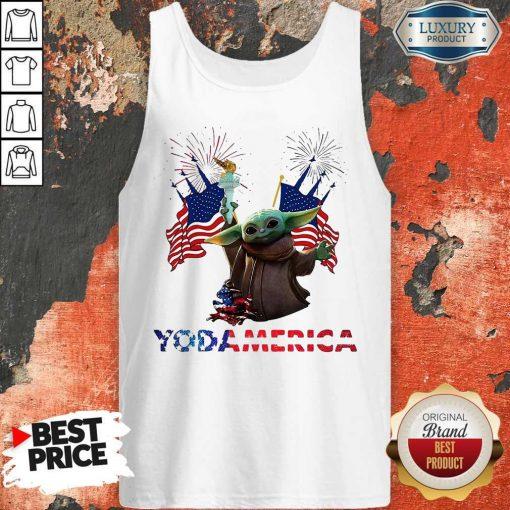 Official Baby Yoda America Tank Top