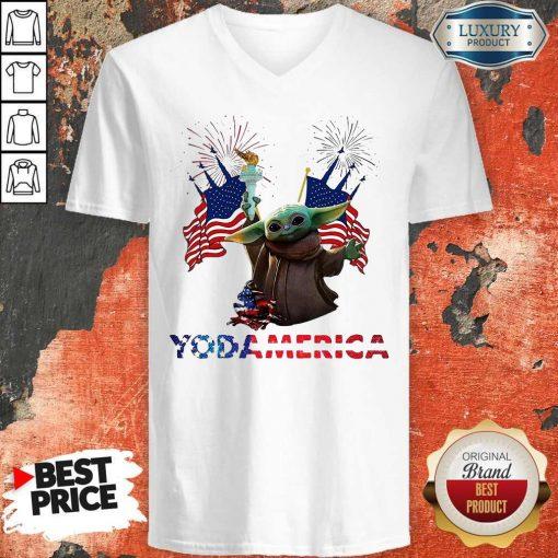Official Baby Yoda America V-neck