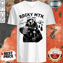 Official Bear Rocky MTN Natl Park V-neck