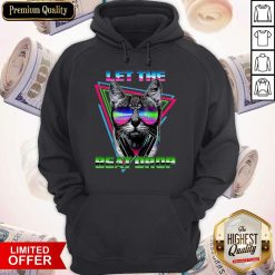 Official Black Cat Let The Beat Drop Hoodie