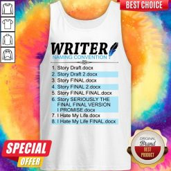 Official Creative Writer Naming Convention Tank Top