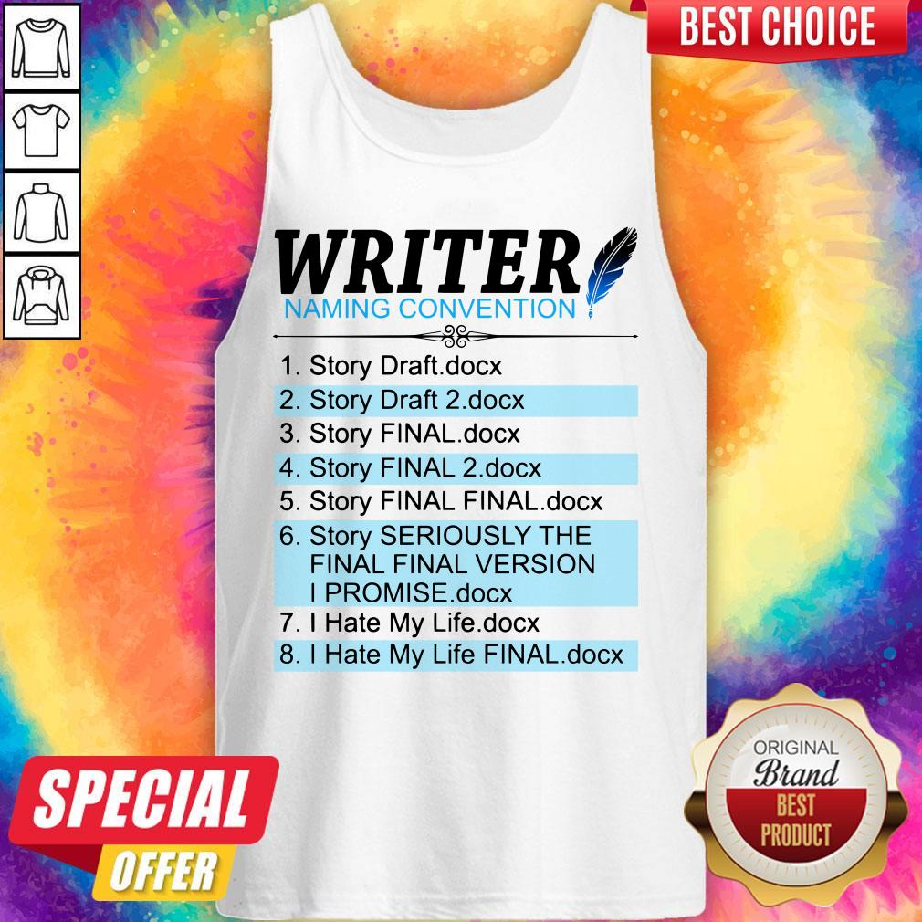 Official Creative Writer Naming Convention Tank-top