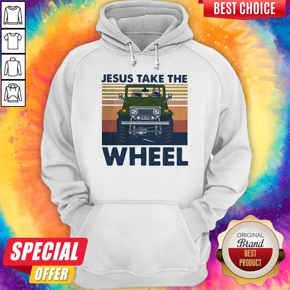 Official Jesus Take The Wheel Vintage Hoodie