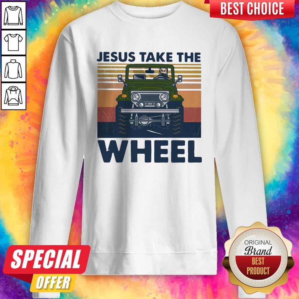 Official Jesus Take The Wheel Vintage Sweatshirt