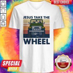 Official Jesus Take The Wheel Vintage V-neck