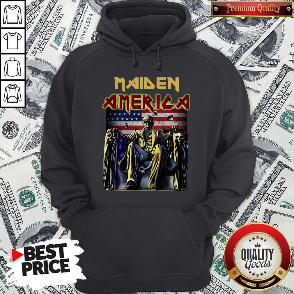 Official Maiden America Flag Hoodie