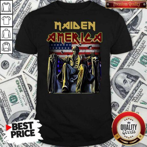 Official Maiden America Flag Shirt