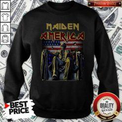 Official Maiden America Flag Sweatshirt