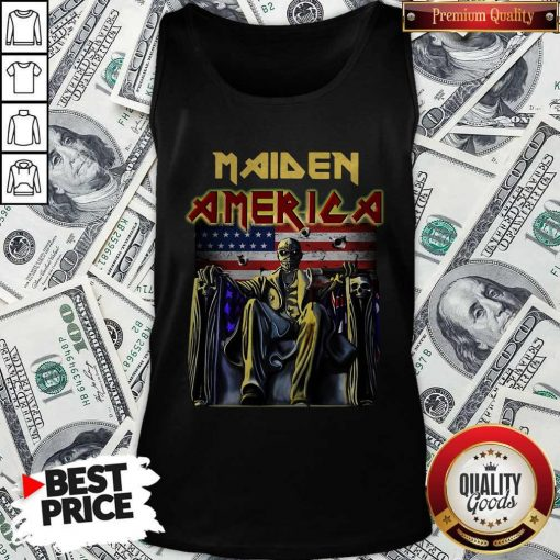 Official Maiden America Flag Tank Top