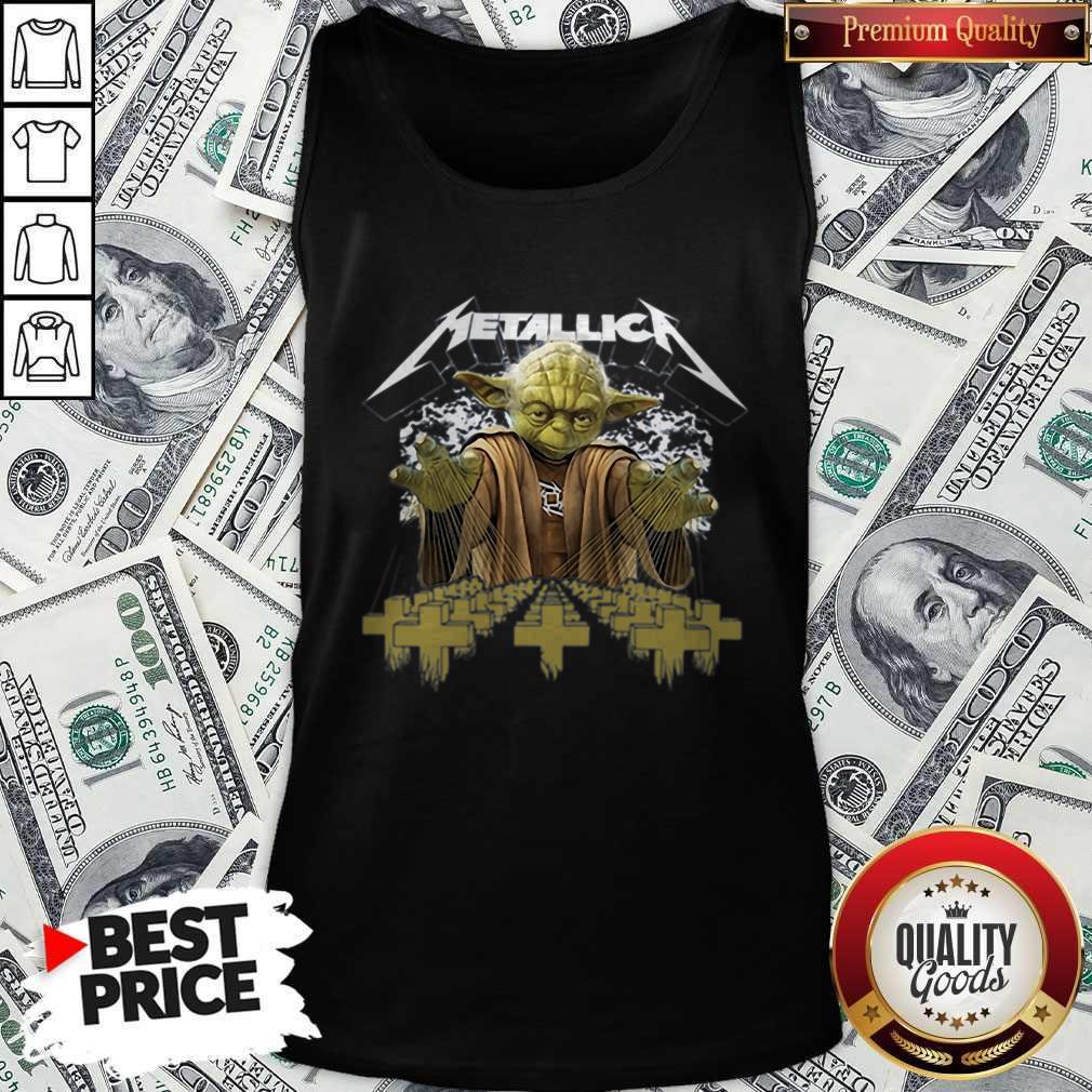 Official Metallica Master Yoda Tank Top