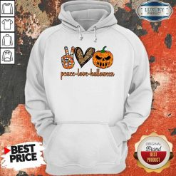 Official Peace Love Halloween Hoodie