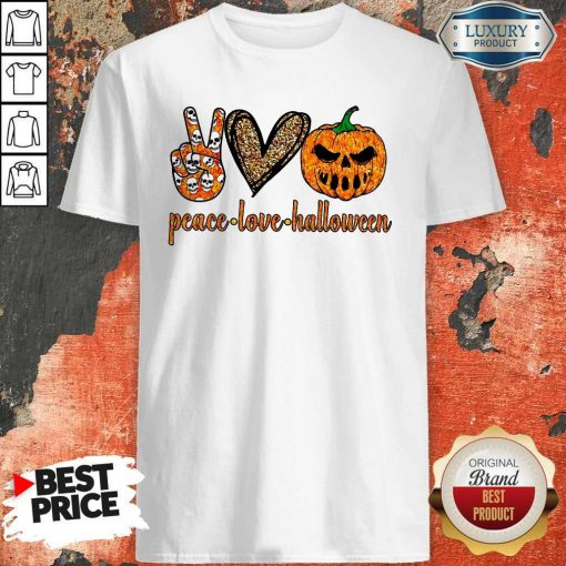 Official Peace Love Halloween Shirt