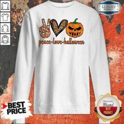 Official Peace Love Halloween Sweatshirt