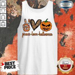 Official Peace Love Halloween Tank Top