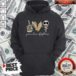 Official Peace Love Nightmare Skellington Diamond Hoodie