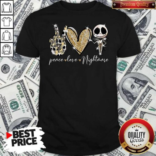 Official Peace Love Nightmare Skellington Diamond Shirt