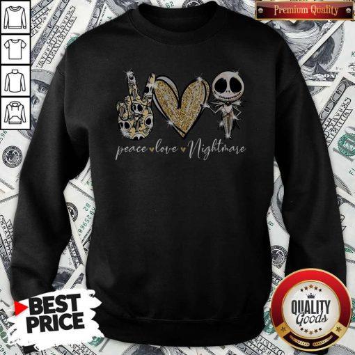 Official Peace Love Nightmare Skellington Diamond Sweatshirt